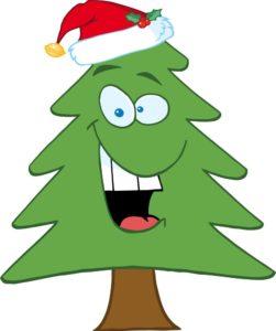 cartoon-christmas-tree-with-santa-hat-vector-1183481 (2)